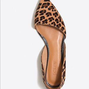 J. Crew Shoes - Jcrew Zoe d'Orsay leopard flats shoes